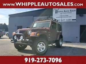 2002 JEEP WRANGLER SAHARA for sale by dealer