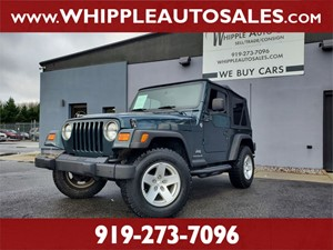 2005 JEEP WRANGLER X for sale by dealer