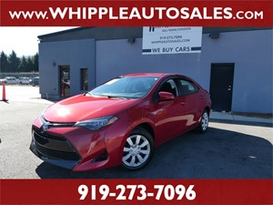 2018 TOYOTA COROLLA LE for sale by dealer
