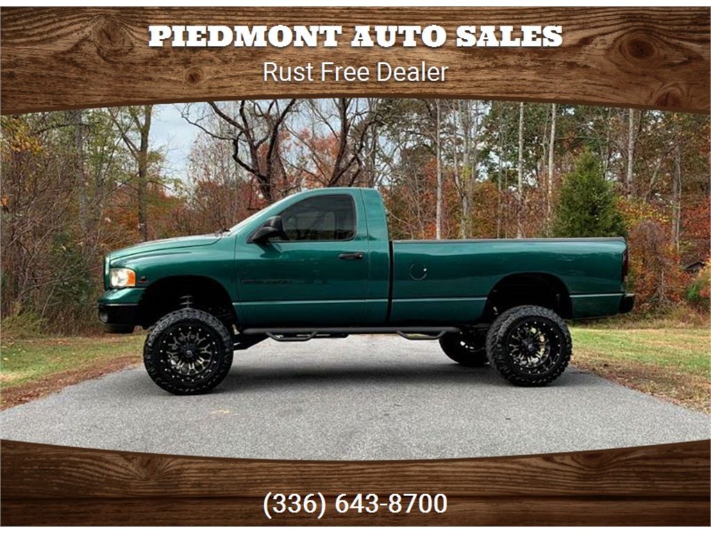 2003 Dodge Ram 2500 Slt 4wd For Sale In Stokesdale