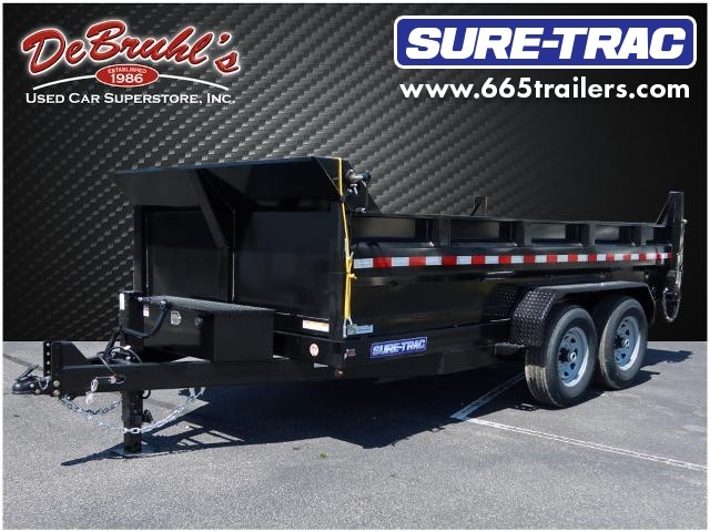 Picture of a used 2021 Sure-Trac 82X14  14K DUAL RAM Dump Trailer (New)