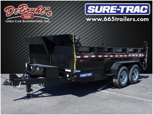 Picture of a 2021 Sure-Trac 82X14  14K DUAL RAM Dump Trailer (New)