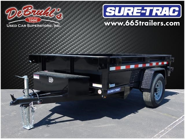 Picture of a used 2021 Sure-Trac 5X8    5K SINGLE RAM Dump Trailer (New)